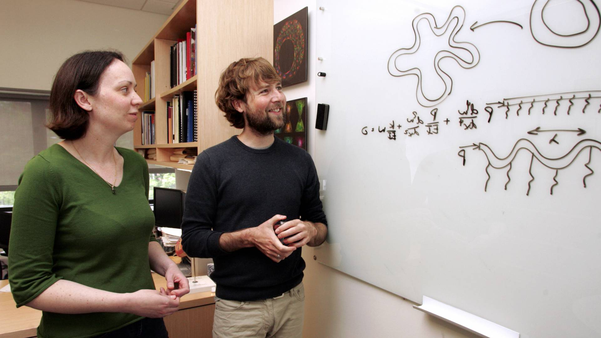 CBE professor Celeste Nelson and engineering graduate student Victor Varner