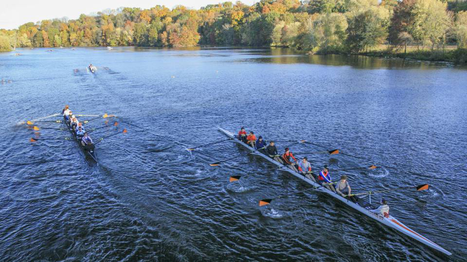 Rowing at Carnegie Lake