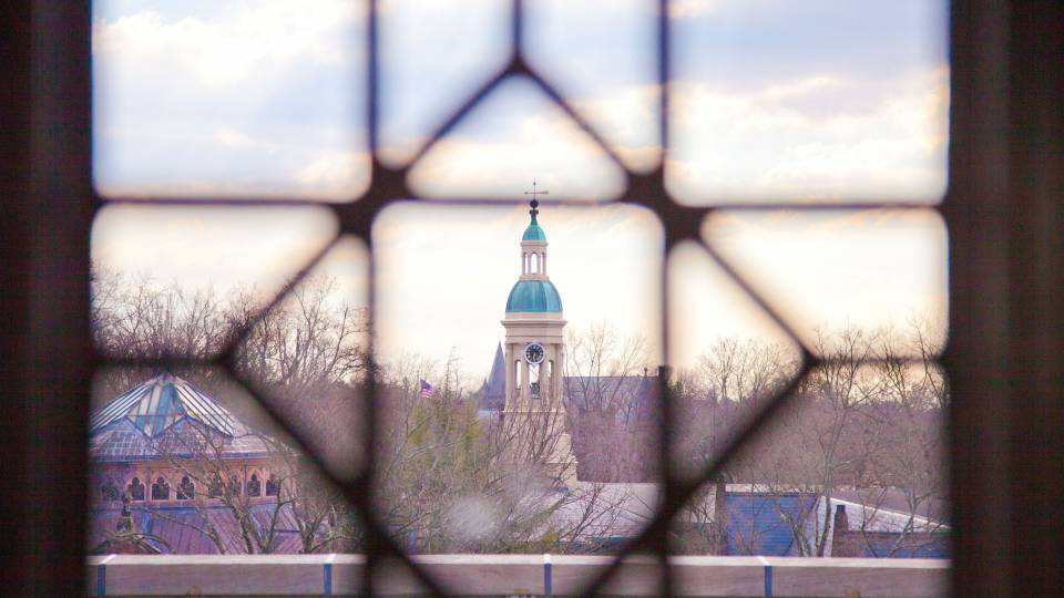 View of cupola from library