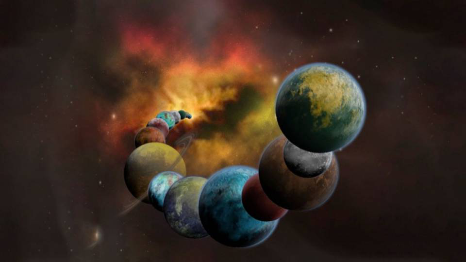 Illustration depicting planets