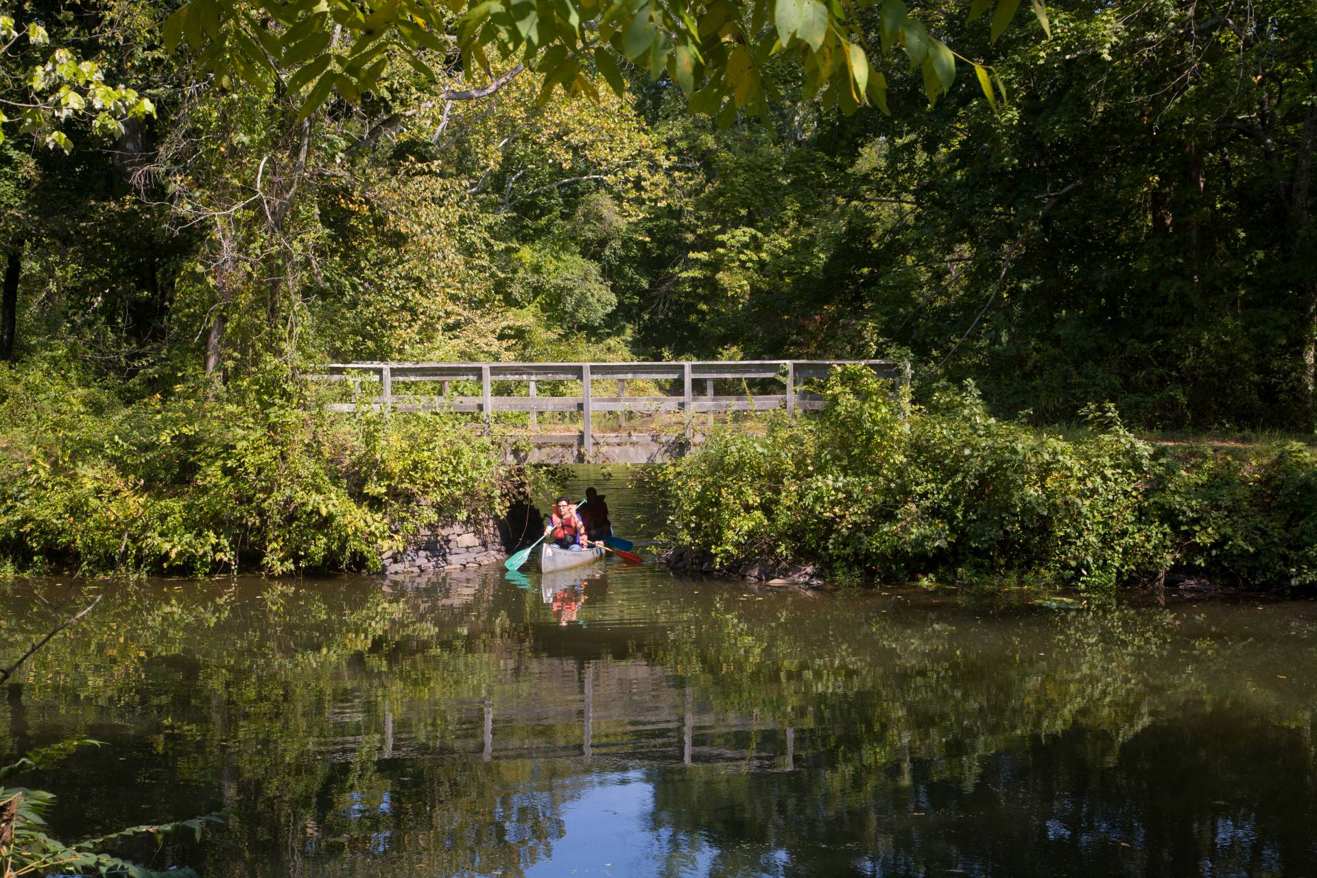 Canoeing on Delaware 和 Raritan Canal State Park