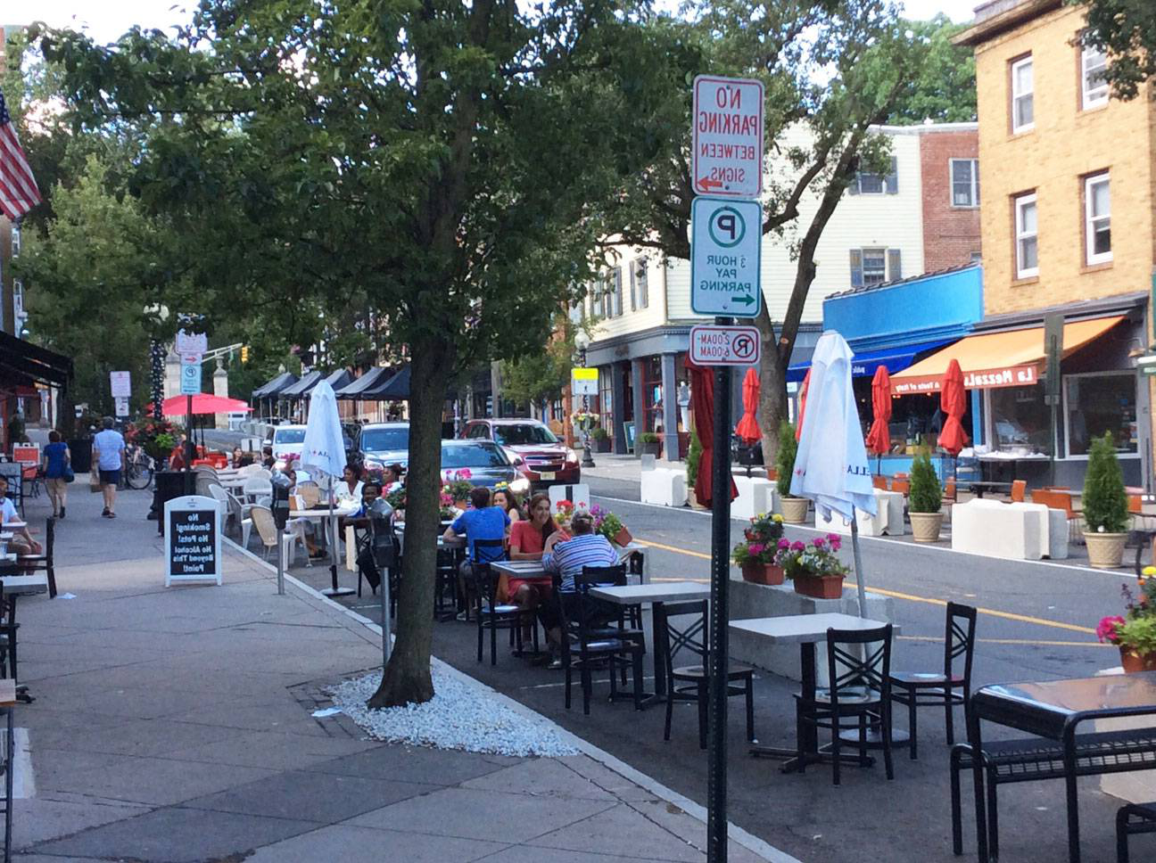 View of Witherspoon Street with outdoor dining
