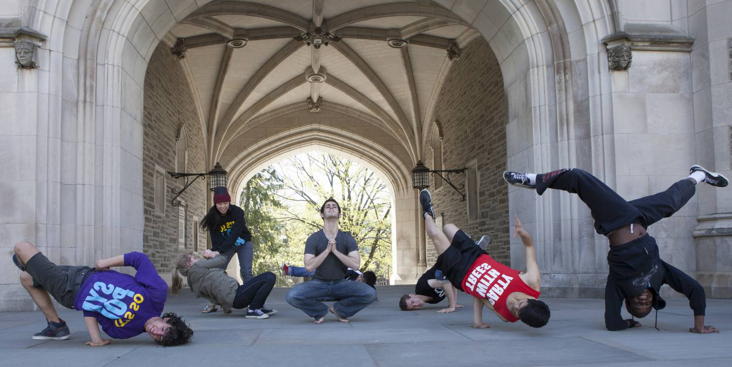 Sympoh dance troup at Blair Arch